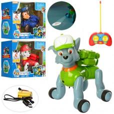 Собака 5566-1-2-3 ЩП, на радиоуправлении, аккумулятор 26см, звук, свет, проетор, USBзар, 3вида