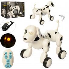 Собака 619 на радиоуправлении, аккумулятор 23см, ходит, танцует, зв англ, муз, св, USВзар, на батарейках