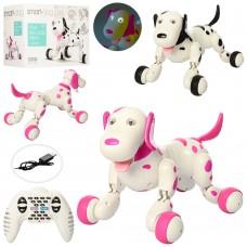 Собака 777-338 на радиоуправлении, аккумулятор 30см, звук, свет, ходит, танцует, USBзаряд