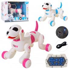 Собака 8205 26см, на радиоуправлении, реаг.на радиоуправлениику, аккумулятор муз, зв англ, св, прогр, танц, USBзар, 2цв, кор