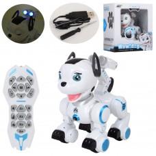 Собака K10 24см, на радиоуправлении, аккумулятор пульт муз, зв, св, ездит, танцует, USBзаряд, на батарейках