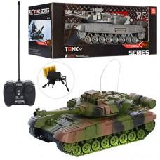 Танк XJ13 на радиоуправлении, аккумулятор 30см, звук, свет, подвижный корпус, 2вида