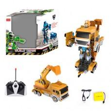 Трансформер AT188MY на радиоуправлении, аккумулятор робот+стройтехника, 35см, е деталей, USDзар