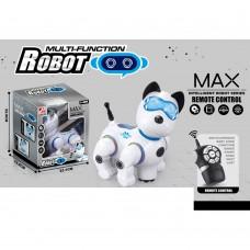 Робот собака 2629-T10B, на радиоуправлении, музыка, свет, 18 см