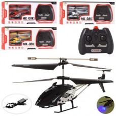 Вертолет 33008-MK на радиоуправлении, аккумулятор 21см, гироскоп, свет, 3, 5канала, USBзарядн, 4цвета