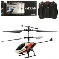 Вертолет AF610 на радиоуправлении, аккумулятор 19см, гироскоп, свет, 2цвета
