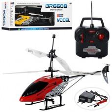 Вертолет BR6608 на радиоуправлении, аккумулятор гироскоп, 43см, свет, 2цвета