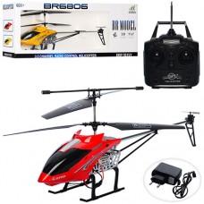 Вертолет BR6806 на радиоуправлении, аккумулятор гироскоп, 62см, свет, 3, 5канала, 2цвета