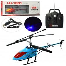 Вертолет LH-1601 на радиоуправлении, аккумулятор 46см, гироскоп, свет, 3, 5канала, USBзарядн, 2цв