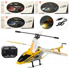 Вертолет LS-221 на радиоуправлении, 19см, аккумулятор гироскоп, свет, 3, 5канала, USBзарядн, 4цвета