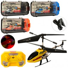 Вертолет SJ200 на радиоуправлении, аккумулятор 20см, гироск, св, 3, 5канала, USBзарн, зап.лоп, 4цв, кор пласт