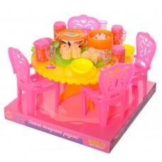 Столовая A8-952 стол, стулья 4шт, посуда, в слюде