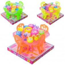 Столовая A8-95B стол, стул 4шт, посуда, продукты, микс цветов, в слюде