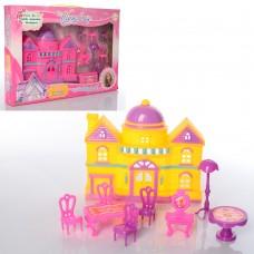 Замок 877-65 для куклы, 17-19-4см, мебель, 2цвета