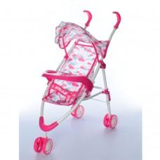 Коляска 5828 для куклы, 48-53-24см, прогулочная, козырек, колеса 3шт, в коляске