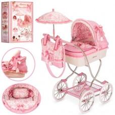 Коляска 80226 для куклы, классика, сумка, зонтик, корзинка, 80-45-90см