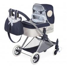Коляска 80720 для куклы, 3в1, классика, сумка, корзинка, подушка, 80-45-в81см
