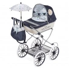 Коляска 81020 для куклы, 68-42-81см, классика, сумка, корзинка, зонт