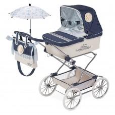 Коляска 82020 для куклы, 90-40-90см, классика, сумка, корзинка, зонт