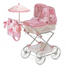 Коляска 82026 для куклы, 90-40-90см, классика, сумка, корзинка, зонт