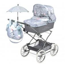 Коляска 82029 для куклы, 90-40-90см, классика, сумка, корзинка, зонт