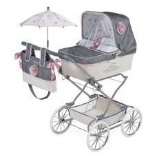 Коляска 82031 для куклы, 90-40-90см, классика, сумка, корзинка, зонт