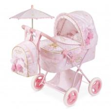 Коляска 85028 для куклы, 65-38-60см, классика, сумка, корзинка, зонт