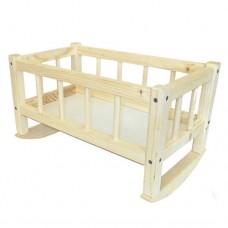 Кроватка для кукол 172016 25*45*35см СМЕРЕКА ТМ Дерево