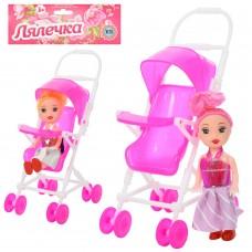 Кукла 262-18 10 см,коляска