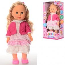 Кукла M 1445 U Даринка, 42см, ходит, муз-звук укр, 10фраз, песня, загадка, на бат, в кор