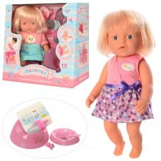 Кукла WZJ020A-5-6 31см, пьет-писяет, горшок, бутылочка, посуда, подгузн, 2вида