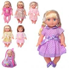 Кукла YL1711K-A-UA 33см, звук, 6видов, на бат таб, в рюкзаке