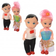 Кукла ZX038B 2шт мальчик/девочка, 10см, микс видовке