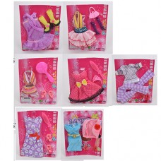 Кукольный наряд JS-007-JS-007-1-2-3-4-5-6 платье, аксессуар, 7видке
