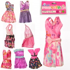 Наряд для куклы D16-7-9-10-12-13-18-21-37 платье, 8видовке