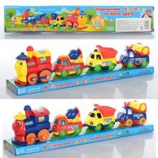 Паровозик детский M 0374 UR стройтехника железная дорога