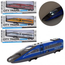 Поезд 630A-1-3-4-5 металл,  инерционный,27см, зв, св, 4вида 1в-полиц, 1в-пожарн, бат