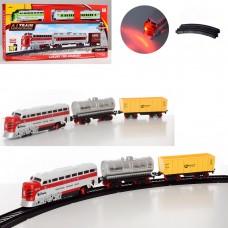 ЖД 1344-1344-1 локомотив15см, вагон, звук, свет, ездит, 2цв