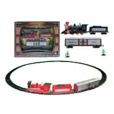 ЖД 1600A-3C диам.103, 5см, локомотив, вагон2шт, звук, свет