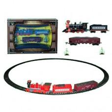 ЖД 1600A-3E диам.103, 5см, локомотив, вагон2шт, звук, свет