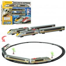 Детская железная дорога 1801B-2 локомотив 23см, 1:87, вагон2шт, 26 деталей, зв, свет, е деталей, на батарейках