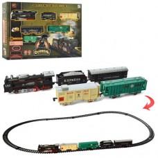 Детская железная дорога 19058-3 локомотив15см, вагон 4шт, зв, св, 17 деталей, на батарейках