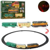 ЖД 19059-1 79-79см, локомотив17см, вагон 2шт, зв, св, на батарейках