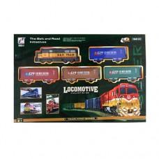 Детская железная дорога 19059-3 352см, локотив 16см, вагон 4шт, звук, свет, на батарейках