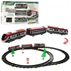 Детская железная дорога 2938A 308см, локомотив 2шт, вагон, 17см, деревья, свет
