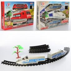Детская железная дорога JHX8807-09 локомотив 2шт, 19см, 15 деталей, звук, свет, ездит, 2в
