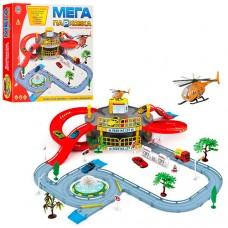 Гараж 922-9 2 этажа, машинка, вертолет, дорож.знаки, дерево2шт