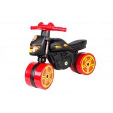 Детская каталка мини байк Технок 5972-1, черный с красным