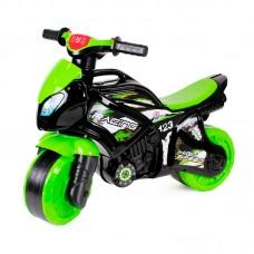 Детская каталка-мотоцикл Технок 5774, черно-салатовый