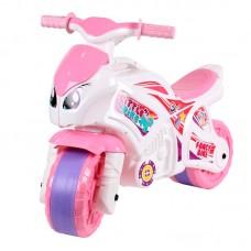 Детская каталка-мотоцикл Технок  5798, бело-розовый